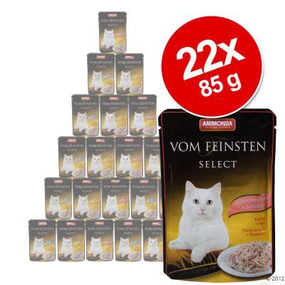 Ekonomipack Animonda vom Feinsten Select 22 x 85 g – Kycklingfilé & musslor