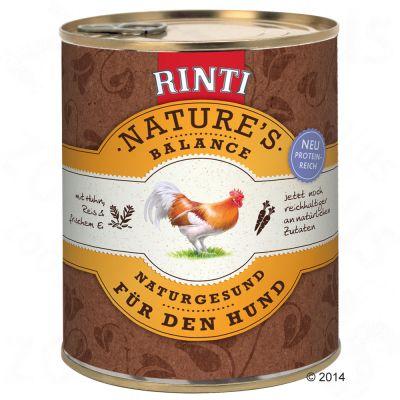 Rinti Natures Balance 6 x 800 g – Kyckling, ris & färska ägg