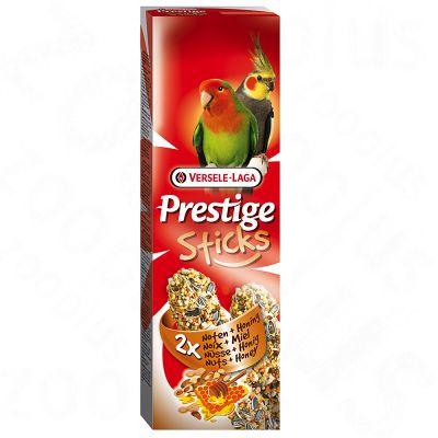 Prestige Sticks för stora parakiter – 2 st, nötter & honung (140 g)