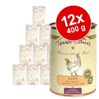 Terra Canis -säästöpakkaus 12 x 400 g - nauta, porkkana, omena & luonnonriisi