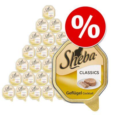 Ekonomipack: Sheba kompositioner 32 x 100 g – Classics – fågelcocktail