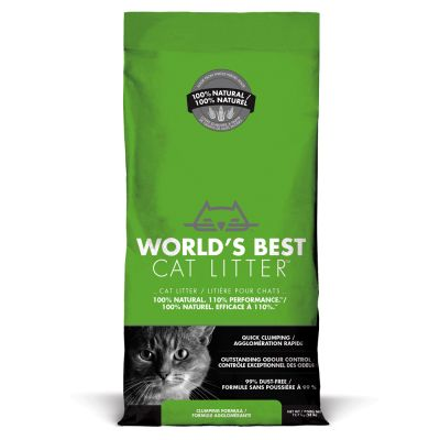 World's Best -kissanhiekka - säästöpakkaus: 2 x 12,7 kg