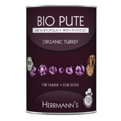 Herrmanns Menu 6 x 400 g, viljaton - luomukalkkuna, hedelmät & vihannekset
