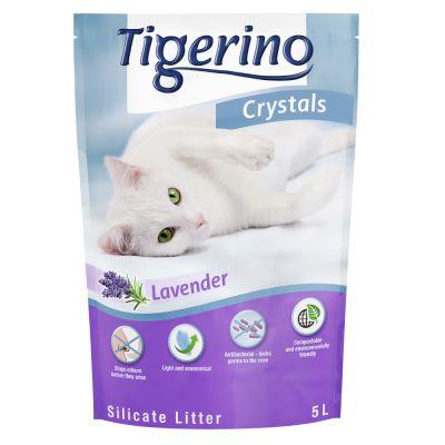 Tigerino Crystals Lavendel -kissanhiekka, laventeli - 5 l