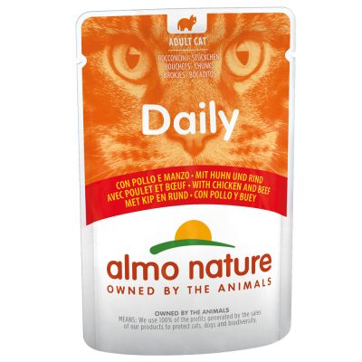 Almo Nature Daily Menu Pouch 6 x 70 g - kana & nauta