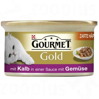Gourmet Gold Bitar i sås 12 / 24 / 48 x 85 g – Nötkött (12 x 85 g)