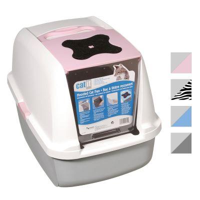 CatIt -kissanvessa - valkoinen / roosa