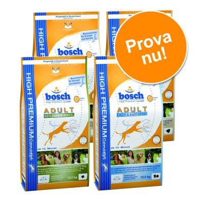 Provpack: Blandat Bosch Adult torrfoder 4 x 1 kg – 4 x 1 kg Bosch Adult
