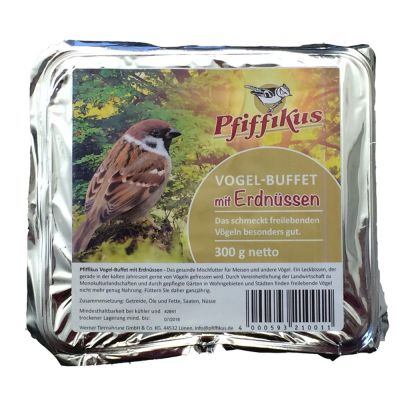Pfiffikus Ptasi bufet - 1 x wypełnienie orzeszki ziemne 300 g