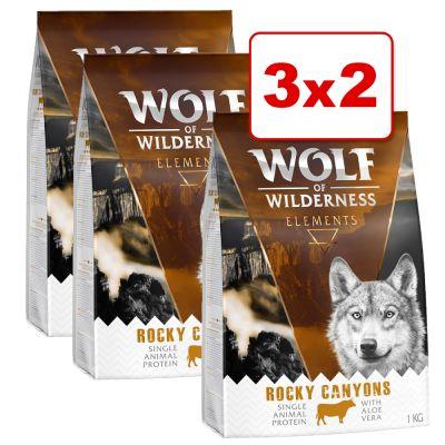 Wolf of Wilderness 3 kg en oferta: 2 + 1 ¡gratis! - Junior Soft Wide Acres con pollo