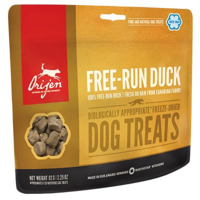 Orijen Dog Snack FreeRun Duck - säästöpakkaus: 3 x 92 g