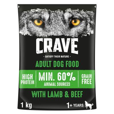 Crave Adult con cordero y vacuno pienso para perros - 11,5 kg