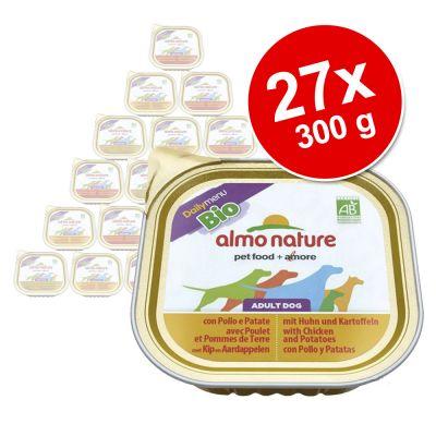 Blandpack: Almo Nature Daily Menu Bio 27 x 300 g – 27 x 300 g: Kyckling, nötkött & kalv