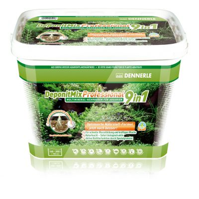 Dennerle DeponitMix Professional 9in1 Substrate - 9,6 kg 160-250 -litraisille akvaarioille, 100 cm