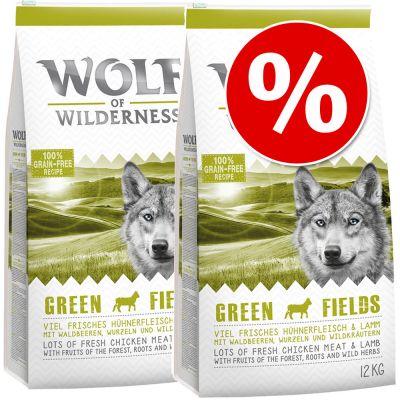 Wolf of Wilderness 2 x 12 kg - Pack Ahorro - Blue River, con salmón