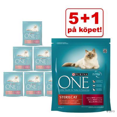 5 + 1 på köpet! 6 x 1,5 kg Purina ONE – Adult Lax & fullkorn