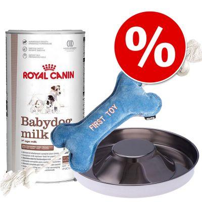 Royal Canin -ensipakkaus koiranpennuille - 2 x 2 kg (10 annospussia à 400g) + kuppi + leluluu