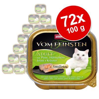 Animonda vom Feinsten Adult herkkutäytteellä -suurpakkaus 72 x 100 g - kana, lohifile & pinaatti