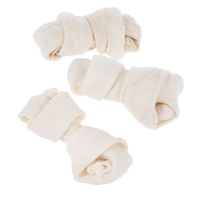 Barkoo huesos naturales con nudos de vacuno para perros - 3 x 11 cm