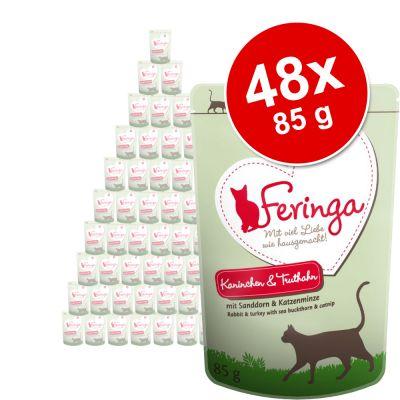 Säästöpakkaus: Feringa Pouch 48 x 85 g - ankka, vasikka & parsakaali