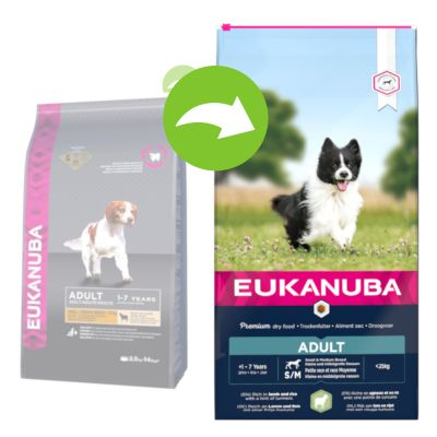 Eukanuba Adult Small & Medium jahňacie & ryža - 12 kg