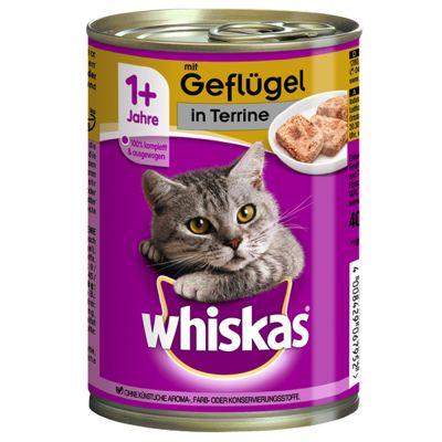 Image of 12 x 400 g Whiskas 1+ Dosen - Geflügel in Sauce