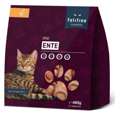 Felifine Complete Nuggets Eend Kattenvoer - 5 x 480 g