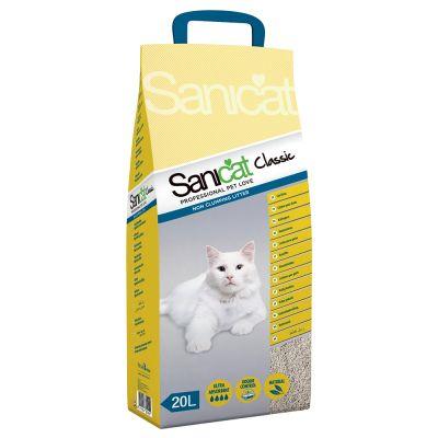 Sanicat Classic Kattenbakvulling - Dubbelpak: 2 x 20 l