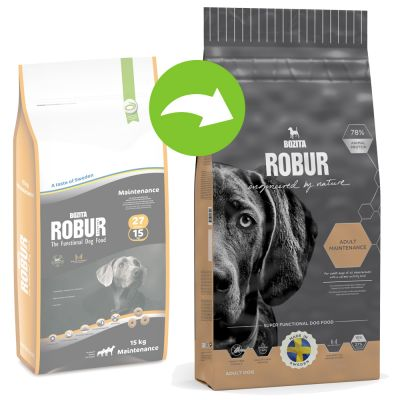 Bozita Robur Maintenance (Nieuwe Receptuur) Hondenvoer - Dubbelpak: 2 x 15 kg
