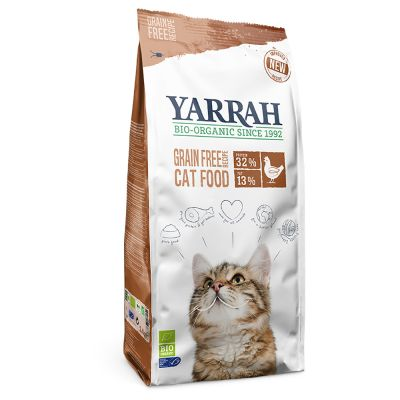 Yarrah Organic Chicken & Fish, viljaton - säästöpakkaus: 2 x 2,4 kg