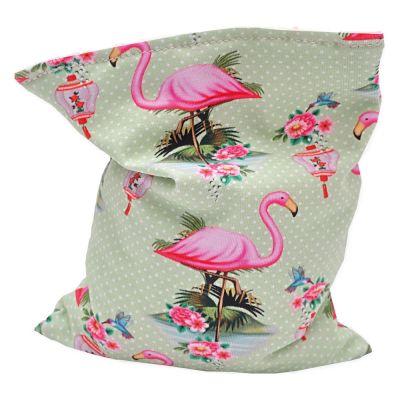 Image of Aumüller Flamingo Shanghai Kissen mit Katzenminze, Baldrian und Dinkelspelz - 1 Stück