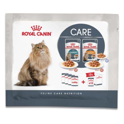 Royal Canin Hairball & Intense Beauty kokeilupakkaus - 4 x 85 g (3 erilaista ruokavaihtoehtoa)