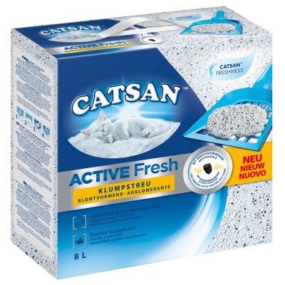 Catsan Active Fresh -kissanhiekka, paakkuuntuva - 3 x 8 L