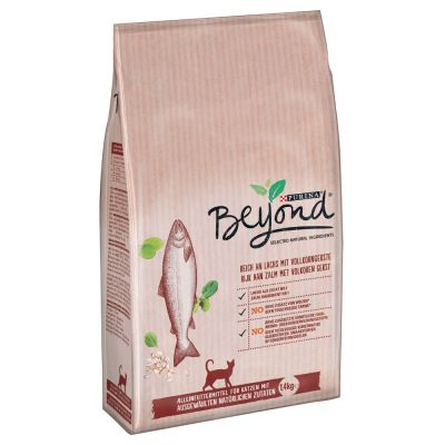 Beyond rico en salmón con cebada integral pienso para gatos - 3 x 1,4 kg