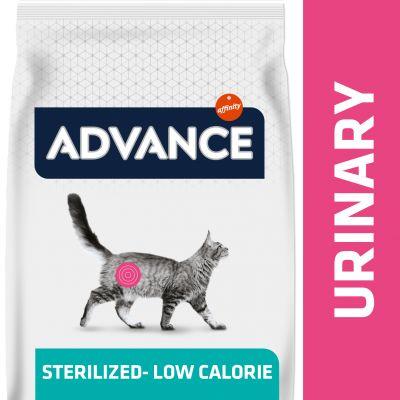 Advance Urinary Low-Calorie/Sterilized Veterinary Diets para gatos - 7,5 kg