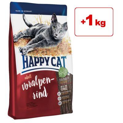 Happy Cat kissanruoka 10 kg: 9 + 1 kg kaupan päälle! - Adult Light