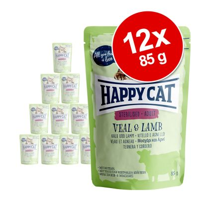 Happy Cat Pouch All Meat 12 x 85 g - kalkkuna & seiti