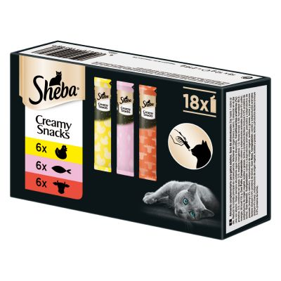 Sheba Creamy Snacks -lajitelma - 18 x 12 g