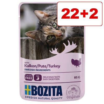 24 x 85 g Bozita Chunks in Gravy/Jelly Pouch: 22 + 2 kaupan päälle! - nauta in Jelly (24 x 85 g)