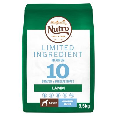 Nutro Limited Ingredient Adult Large Breed Lamb - 9,5 kg