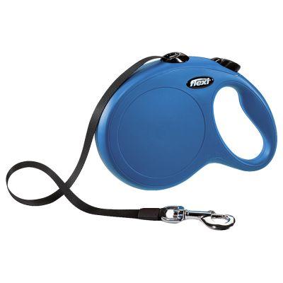 flexi New Classic -nauhakelatalutin, L, sininen, 8 m - oheen: Multibox-kotelo, musta, ei sisällä talutinta