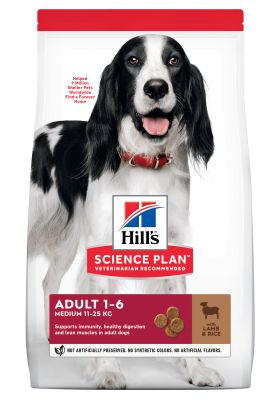 Hill's Adult 1-6 Medium Science Plan con cordero y arroz - 14 kg