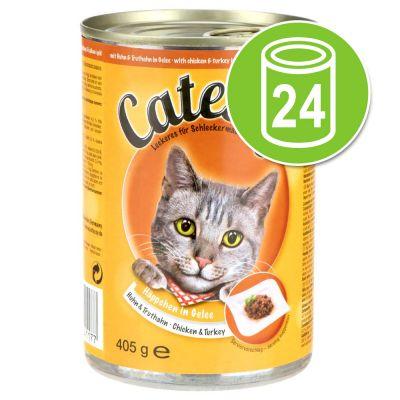 Säästöpakkaus: Catessy kastikkeella tai hyytelöllä 24 x 400 g – kani & kalkkuna kastikkeessa