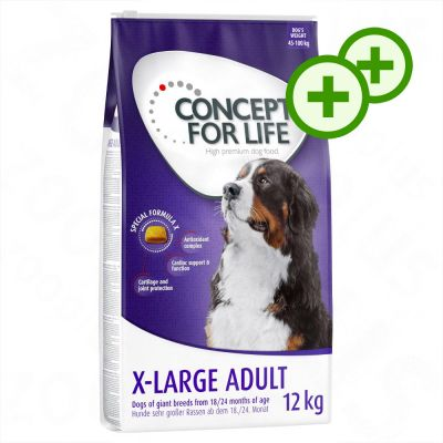 2x zooPisteitä: Concept for Life koiranruoka 12 kg - Large Senior