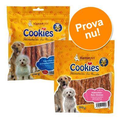 Provpack: 2 sorters Cookie´s Delikatess hundgodis - 4 x 200 g