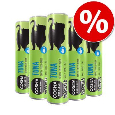 Cosma Snackies -säästöpakkaus 5 purkkia - 105 g ankka