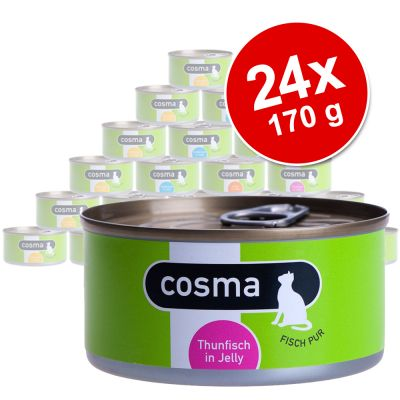 Ekonomipack: Cosma Original i gelé 24 x 170 g – Lax