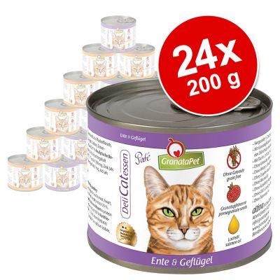 GranataPet DeliCatessen -säästöpakkaus 24 x 200 g - kalkkuna & fasaani