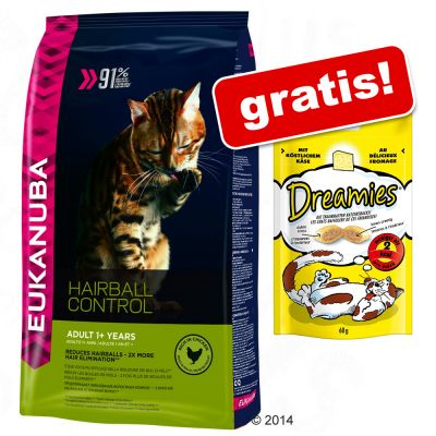 stor-pose-eukanuba-torfoder-60-g-dreamies-snacks-gratis-healthy-digestion-adult-4-kg