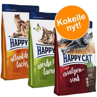 Happy Cat Adult 3 makua - 3 x 4 kg: Lamb + Beef + Salmon